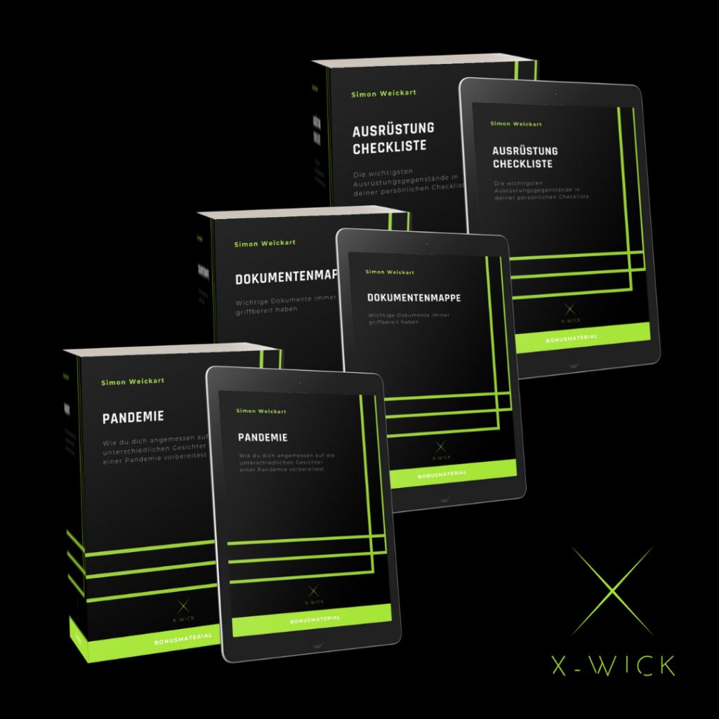 Bonusmaterial: Pandemie Bonuskapitel, Dokumentenmappe - Checkliste über die wichtigsten Dokumente und Ausrüstung Checkliste ein Überblick über die wichtigste Ausrüstung